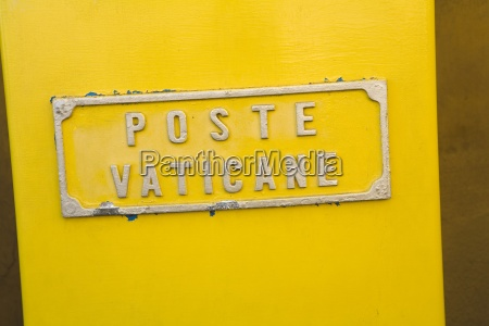 vatican post office sign rome italy