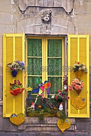 open window shutters avignon france