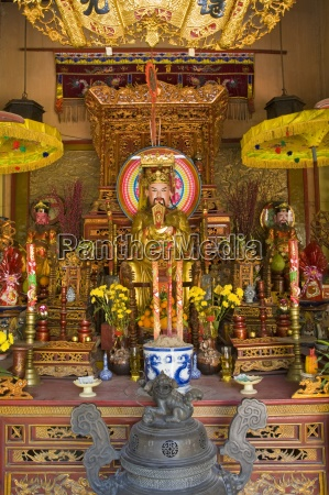 buddistischer tempel interieur tao dan culture