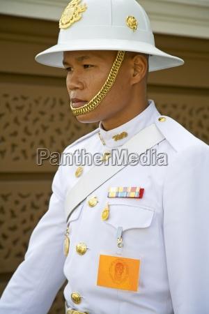 guard at royal grand palace in