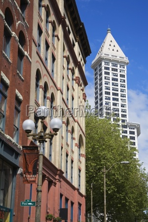 yesler way street and smith tower