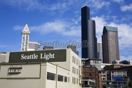 pioneer square and seattle skyline seattle