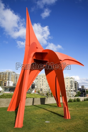 eagle sculpture by alexander calder olympic