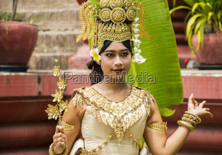 classical khmer dancer by the national
