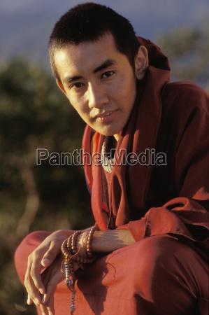 portraet eines mannes kathmandu nepal