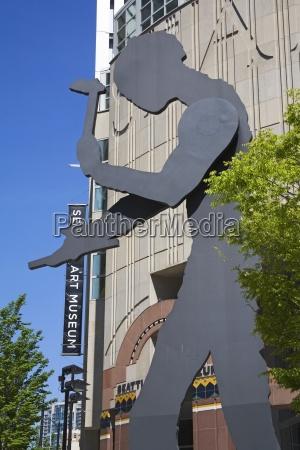 hammering, man, sculpture, by, jonathan, borofsky; - 25414056
