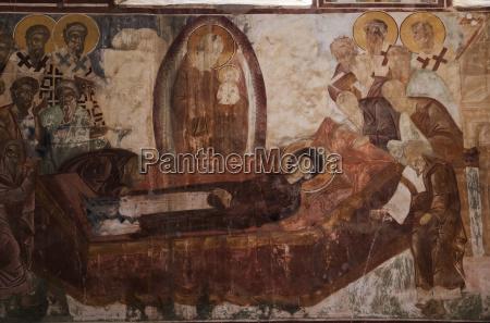 fresco in the interior of the