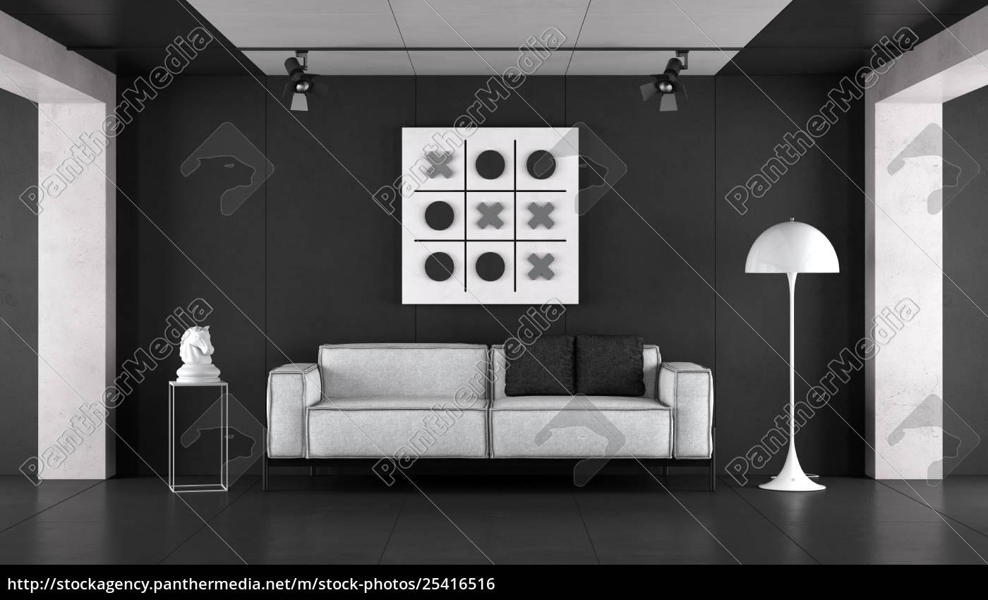 minimalist schwarz-weiß-wohnzimmer - Lizenzfreies Foto - #25416516 ...