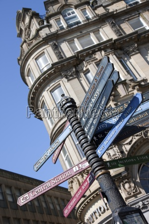 street signs northumberland england