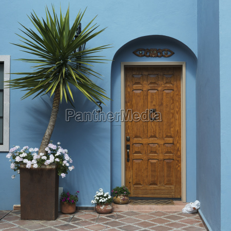 wooden door of a house with