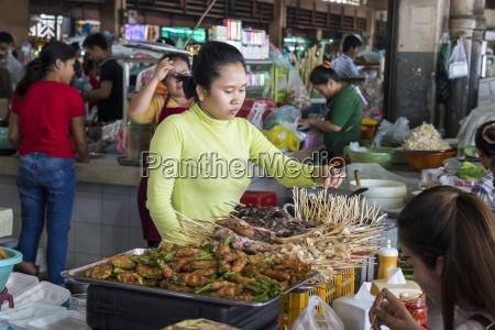 satay vendor at the central market