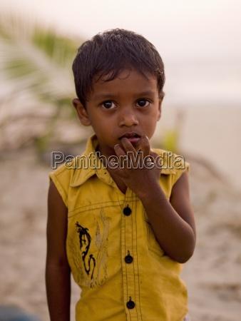 kerala indien portraet des jungen am