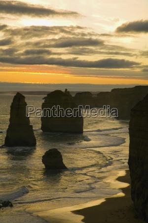 sonnenuntergang auf dem ozeanvictoriaaustralien