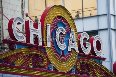 chicago sign chicago illinois usa