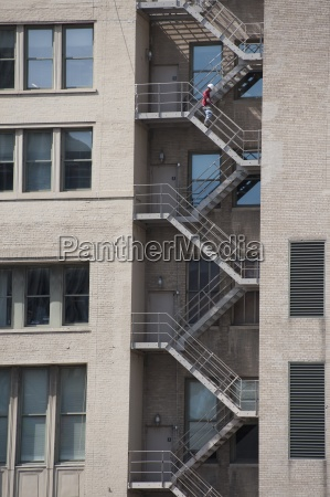 fire escape on tall building chicago