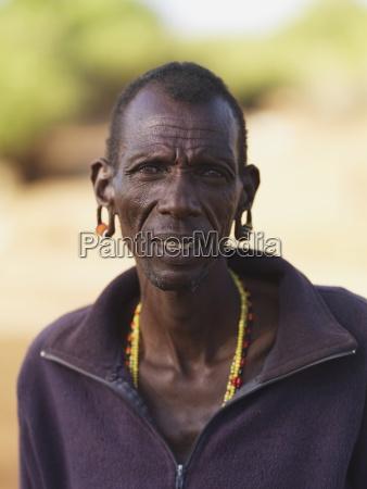 mitglied des samburu tribe samburu national