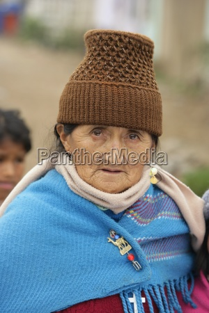 portrait of senior woman lima peru