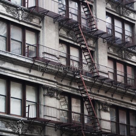 fire escape on building exterior manhattan