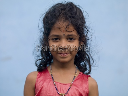 portrait of smiling young girl kochi