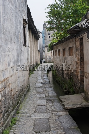 street in the ancient town of
