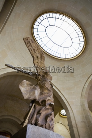 low angle of the winged victory