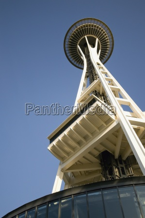 the seattle space needle against a