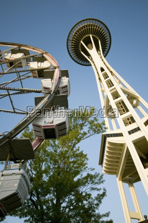 the seattle space needle and ferris