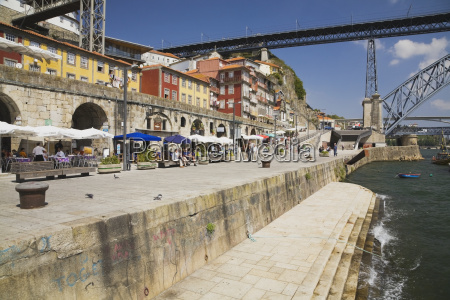 waterfront along on the douro river