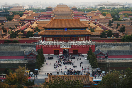 the forbidden city from jingshan park