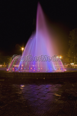 a fountain near city hall phnom