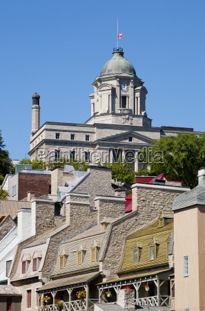 quebec city lower town and canada