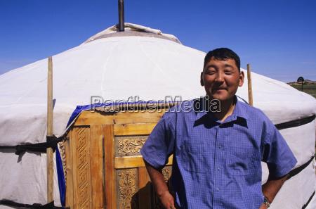mongolia nomadic community ger ranch local