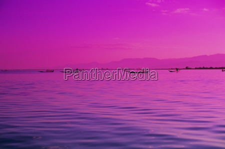 burma myanmar inle lake pink and