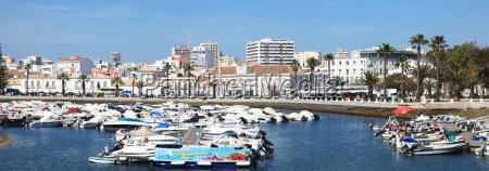 the harbour faro algarve portugal