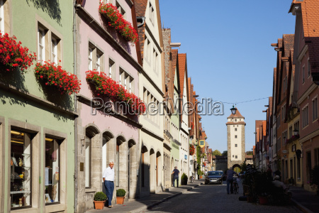 colourful buildings along a street with