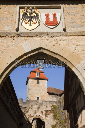 one of the town gates rothenburg