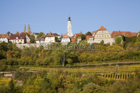 buildings against a blue sky rothenburg