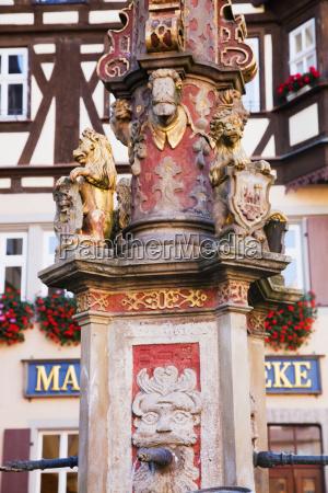 market fountain rothenburg ob der tauber