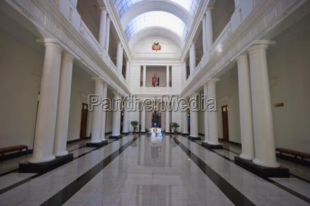 main hall of the corte suprema