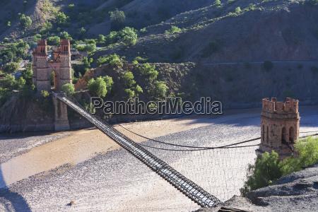 old bridge over the pilcomayo river