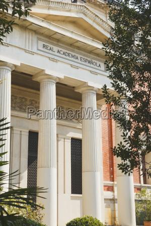 die koenigliche spanische akademie madrid spanien