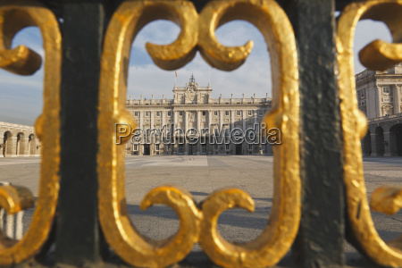 the royal palace as seen through