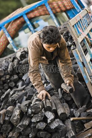 the coal vendor making his deliveries