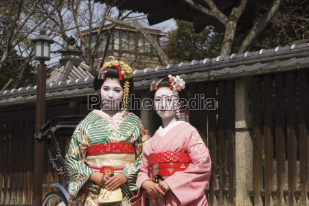 two geishas in old kyoto kyoto