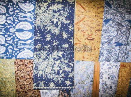 batik fabrics made from natural dyes