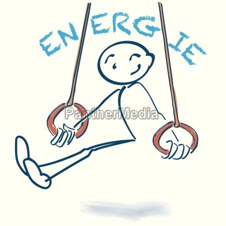 strichmaennchen in den ringen mit energie