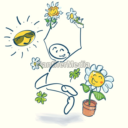 stick figure and jump into summer