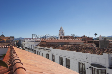 roofs sucre chuquisaca department bolivia