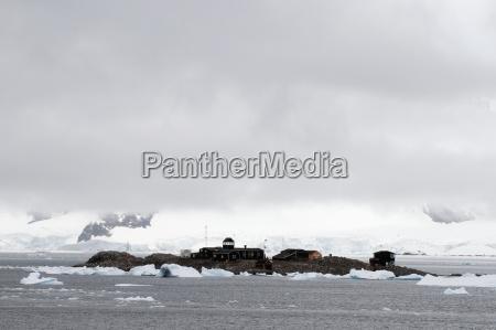 buildings on an island south shetland