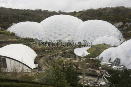 artificial biomes where plants are collected